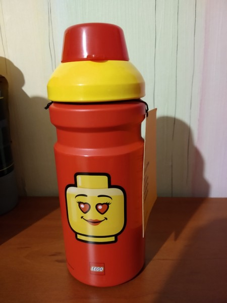 LEGO Бутылочка для воды ICONIC girls, красная 390 мл. (5711938030414)