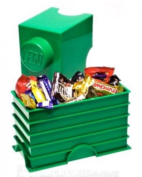 LEGO Двуточечный бокс для хранения конструктора, зеленый