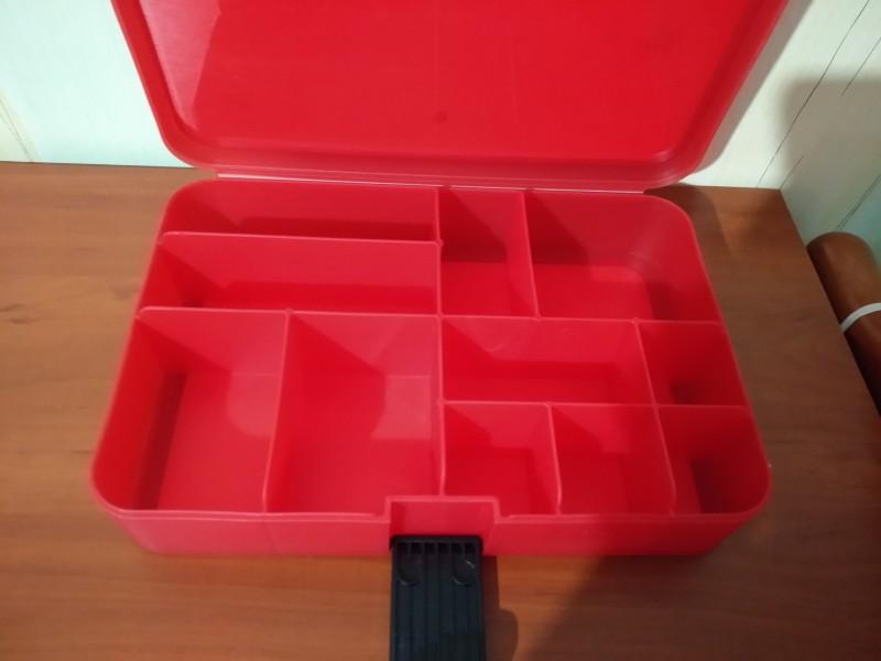 LEGO контейнер для конструктора с разделителями, красный