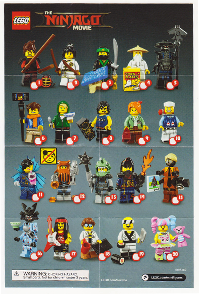 LEGO Minifigures Полная коллекция минифигурок Лего Фильм: Ниндзяго из 20 шт (71019_21)