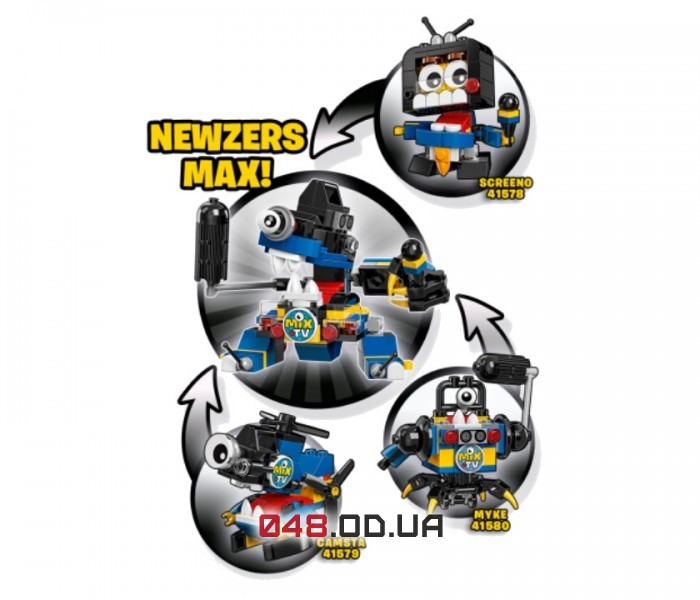 LEGO Mixels Скрино серия 9 клан Ньюзерсы (41578)