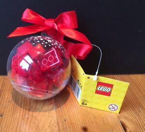 LEGO новогодний шар на елочку с красными кубиками (853344)