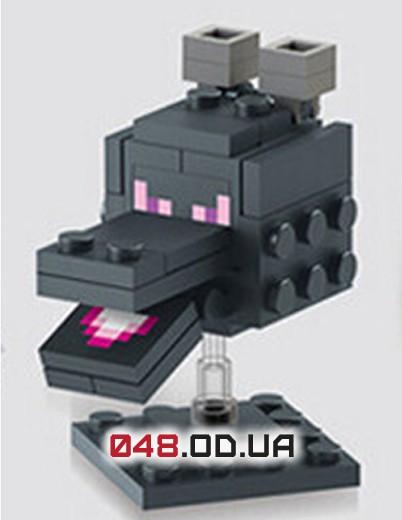 LELE аналог ЛЕГО Minecraft Минифигурки Большая голова Эндер Дракона края (79018-6)