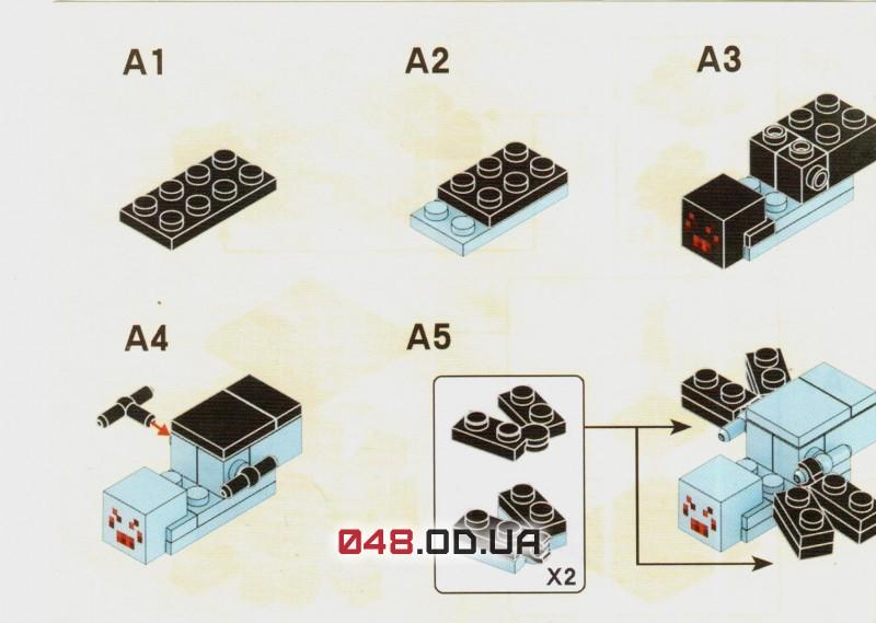LELE аналог ЛЕГО Minecraft Минифигурки Пещерный паук на подставке (79018-2)