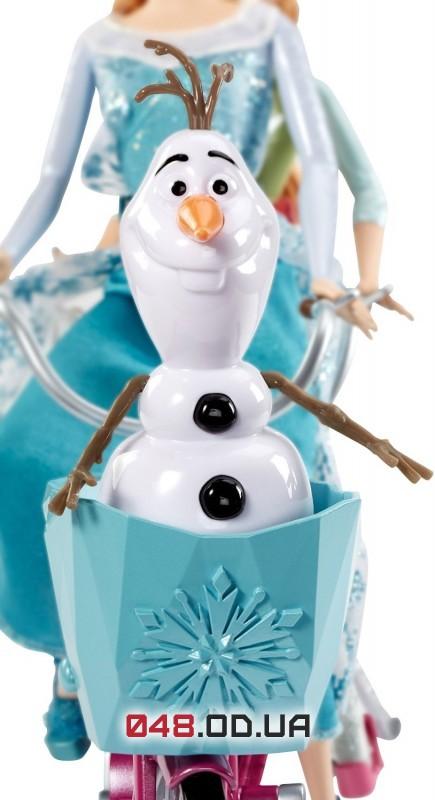 Набор кукол Анна и Эльза Mattel на музыкальном велосипеде с олафом (Frozen, Холодное сердце)