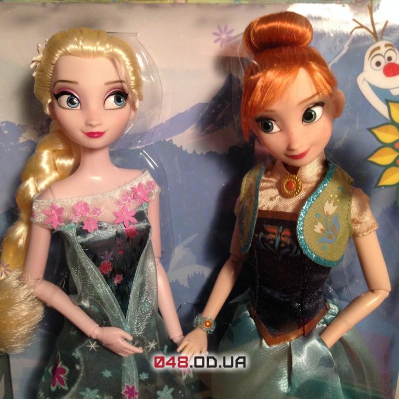 Набор кукол Анна и Эльза Дисней Холодное торжество (Frozen Fever Anna and Elsa Dolls Summer Solstice Gift Set)