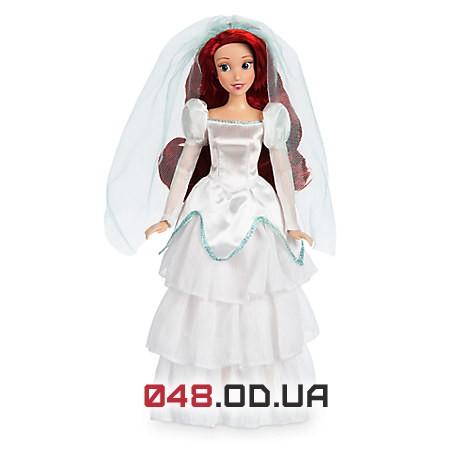Кукла принцесса Дисней русалочка Ариэль невеста, шарнирная 30 см.