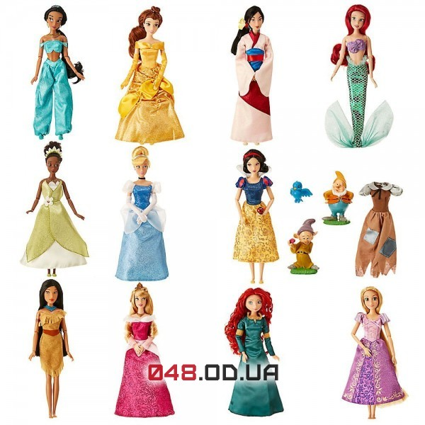 Эксклюзив! Подарочный набор из 11 кукол принцесс Диснея