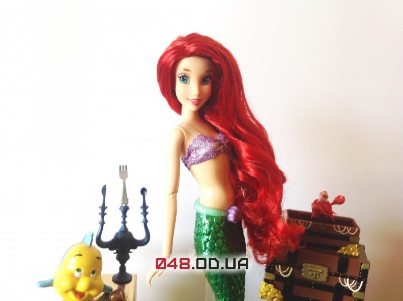 Подарочный набор поющая кукла принцесса дисней русалочка Ариэль + аксессуары