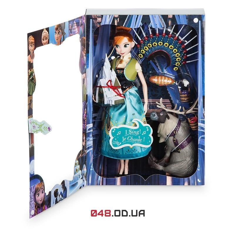 Игровой набор кукла поющая Дисней принцесса Анна с аксессуарами (м/ф Холодное Торжество)