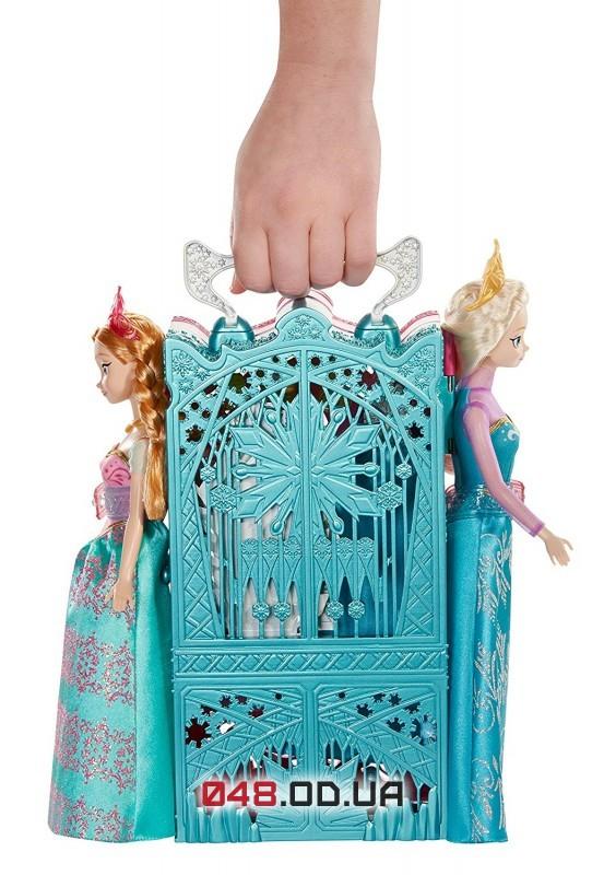 Гардероб Mattel для кукол Анны и Эльзы с аксессуарами и одеждой (Disney Frozen Dual Vanity Playset)